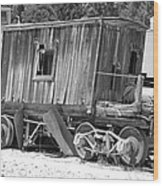 Wooden Caboose Wood Print