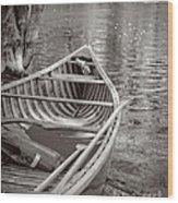 Wooden Canoe Wood Print