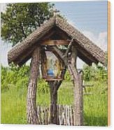 wooden shrine of holy Mother in Poland  Wood Print