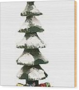 Wooden Christmas Tree With Gifts Wood Print
