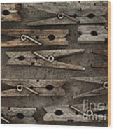 Wooden Clothespins Wood Print
