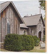 Wooden Country Church Wood Print