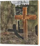 Wooden Cross Wood Print by Hans Engbers
