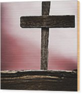 Wooden Cross Wood Print