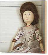 Wooden Doll Wood Print by Margie Hurwich