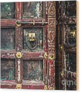 Wooden Door Wood Print by Catherine Arnas