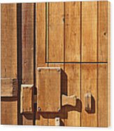 Wooden Door Detail Wood Print by Carlos Caetano