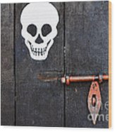 Wooden Door Wood Print by William Voon