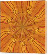 Wooden Flower Wood Print