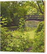 Wooden Foot Bridge Wood Print