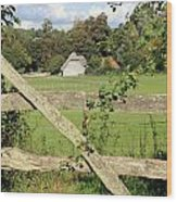 Wooden Gate Sussex Uk Wood Print