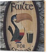 Wooden Guinness Sign Wood Print