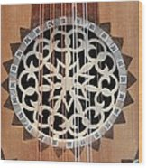 Wooden Guitar Inlay With Strings Wood Print