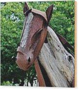 Wooden Horse20 Wood Print
