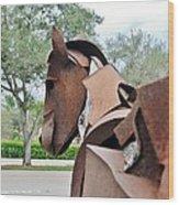 Wooden Horse26 Wood Print