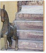 Wooden Horses 2 Wood Print