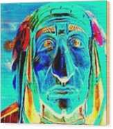 Wooden Indian Wood Print