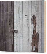 Wooden Latch Wood Print
