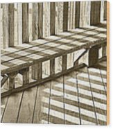 Wooden Lines - Semi Abstract Wood Print