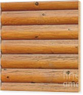 Wooden Logs Wall Background Wood Print
