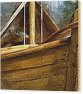 Wooden Mackinaw Boat Wood Print
