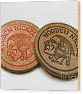 Wooden Nickels Wood Print