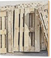 Wooden Pallets Wood Print by Tom Gowanlock