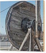 Wooden Pully Wood Print