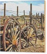 Wooden Ranch Wagon Wood Print