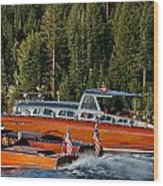 Wooden Runabouts Of Tahoe Wood Print