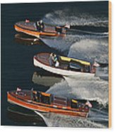 Wooden Runabouts On Lake Tahoe Wood Print