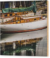 Wooden Sailboat Wood Print