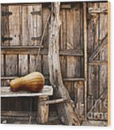 Wooden Shack Wood Print