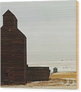 Wooden Silo Wood Print by Jeff Swan