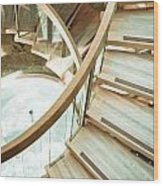 Wooden Staircase Wood Print