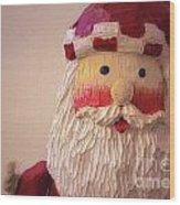 Wooden Toy Santa Wood Print