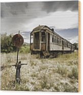 Wooden Train - Final Resting Place  Wood Print
