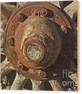 Wooden Wagon Wheel Wood Print