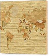 Wooden World Map 2 Wood Print