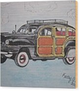 Woodie Station Wagon Wood Print