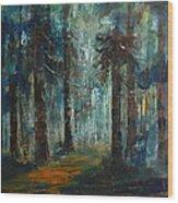 Woodland At Wilsonia 02 Wood Print