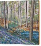 Woodland Blues Wood Print