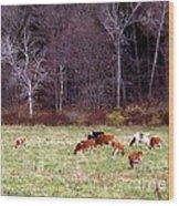 Woodland Dairy Wood Print