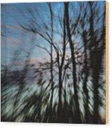 Woodland Flight Wood Print
