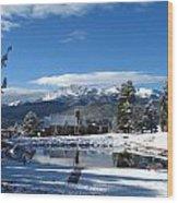 Woodland Parks Pikes Peak Wood Print