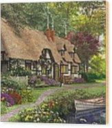 Woodland Walk Cottage Wood Print