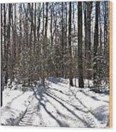 Woodlot Road Wood Print