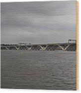 Woodrow Wilson Bridge - Washington Dc - 01131 Wood Print