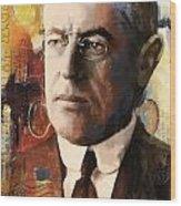 Woodrow Wilson Wood Print