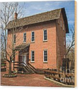 Wood's Grist Mill In Deep River County Park Wood Print by Paul Velgos